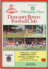 Programma / Programme Doncaster Rovers FC v Lincoln City 01-02-1986