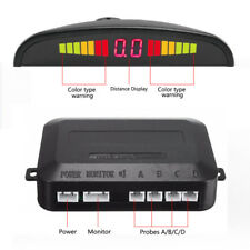 Silver  LED Display Car 4 Parking Sensor Reverse Audio Backup Radar Alarm System