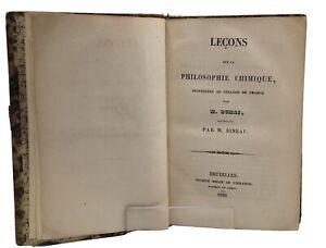 Dumas, J.-B. - Leçons sur la philosophie chimique, 1839