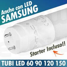 TUBO LED NEON 60 90 120 150 T8 G13 TUBI VTAC SAMSUNG LUCE CALDO NATURALE FREDDO