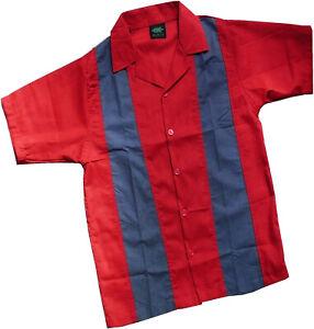 Bowling Hemd Shirt Charlie Harper / Sheen Style Sommerhemd 100 % BW M - XXXL Neu