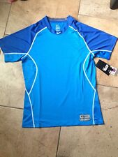 NWT!! Nike Pro Combat Fitted Short Sleeve Baseball Top Sz Medium 484410 494 Blue