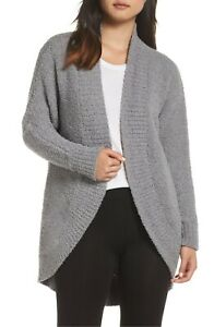 Women's Clothing UGG FREMONT Fluffy Knit Circle Cardigan 1098870 GREY