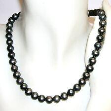 COLLIER Gris perle de culture 8,5-9 mm et ARGENT de Loi 925, long. 42-43 cm