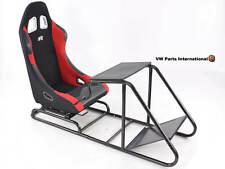Car Gaming Racing Sim Chair Bucket Seat Black/Red Fits Logitech Fanatec PS5 Xbox
