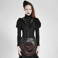 Punk Rave Celestial Blouse Shirt Black Gothic Victorian Steampunk Y-681