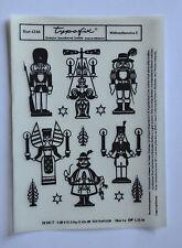 DDR Kult Typofix Haftdruckabreibfolie Saalfeld Rubbelbild 4356 Weihnachtsmotive