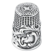 SWIRL PATTERN THIMBLE STERLING SILVER 925 HALLMARKED NEW FROM ARI D NORMAN