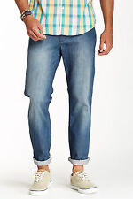 RVCA CHEV EXTRA STRETCH JEANS ROUGH BLUE MENS SIZE 30 NEW WITH TAGS $68