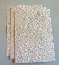 3 - STAMPIN' UP+  EMBOSSED DAMASK CARD FRONT, PHOTO MAT OR BACKGROUND.