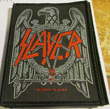 SLAYER COLLECTABLE RARE PATCH ENGLISH WOVEN  METAL 2009