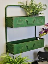 Industrial Vintage Retro Metal Wall Shelf Shelving Cabinet Storage Unit Rack