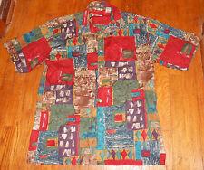 VTG 80s 90s Funky Burma Bibas Surf Men's 100% Cotton Shirt L Hip Hop Skater