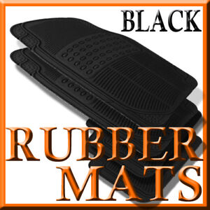 Fits Buick REGAL ALL WEATHER BLACK RUBBER FLOOR MATS