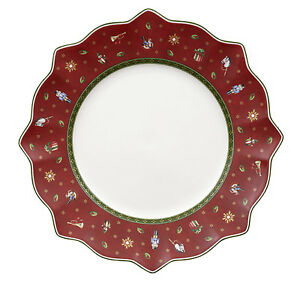 Villeroy & Boch TOY'S DELIGHT Red Dinner Plate w/Scratches