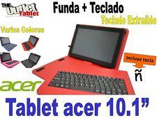 """FUNDA CON TECLADO TABLET ACER 10.1""""  fundas TECLADO EXTRAIBLE"""