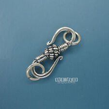 5PC Antiqued 925 Sterling Silver S Hook Clasp 20mm w/Open Jump Rings #33225-5