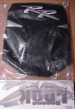 2003 HONDA CBR 600RR TANK BRA Black/Silver RR Embroidered LOGO SECOND LOOK NEW