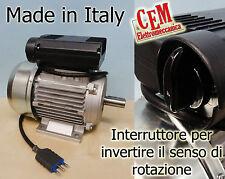 Motore elettrico 3 HP 4 Poli con Interruttore senso di rotazione MEC 90 Monofase