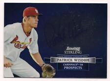 2012 Bowman Sterling Rookie Auto Patrick Wisdom St. Louis Cardinals