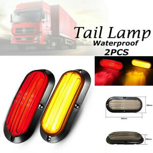 2X 74LED Car Turn Reverse Heavy Truck Tail Lamp Stop Rear Brake Light Red&Yellow