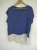 GILLIAN TENNANT Top/blouse Sz 10, 12 Blue, beige print