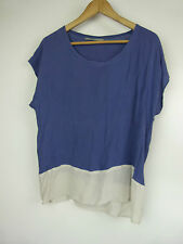 GILLIAN TENNANT Top/blouse Sz 10, 12 Blue, beige print