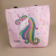Unicorn Pastel Pink Tote Bag Beach Reusable Shopping Nappy Bag Picnic Rainbow