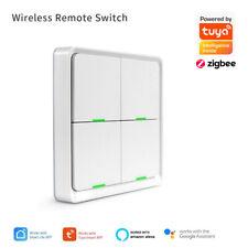 Tuya ZigBee Wireless Smart Szene Schalter 4 Gang Fernbedienung Home Automation