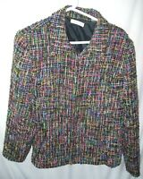 WOMENS BLACK BROWN PINK COLDWATER CREEK CAREER LINED BLAZER JACKET SIZE 20 50