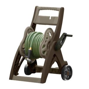 Hose Reel Cart Duty Heavy Garden Water Storage Portable Steel Wheel Up 175 Ft