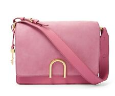 Fossil Finley Suede Leather Shoulder Bag Purse Handbag Wild Rose ZB7455671