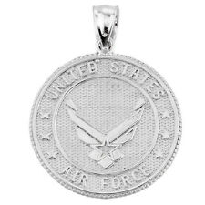 925 Sterling Silver US Air Force Two Sided Coin Pendant