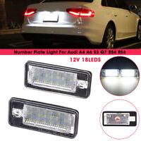 2X 12V 18 Led Luci Targa Placchette Lampada E8 Per Audi A4 A6 S3 Q7 Rs4 Rs6