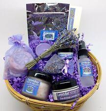 Lavender Gift Basket-Free Same Day Shipping- Bath Salts OPTION--Travel Size