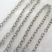 18 Inch Antiqued Silver Brass Cable Chain Necklace With Lobster Clasp