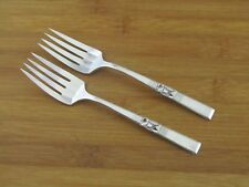 "2 Two Oneida Morning Star Dessert Forks 6 3/8"" Community Silverplate Flatware"