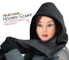 Soft Warm Polar Fleece Hooded Scarf Ladies Womens Hood Wrap Winter Head Cover