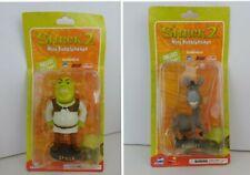 Shrek 2 Mini Bobbleheads Set of 2: Shrek & Donkey (Dreamworks, 2003) New Sealed