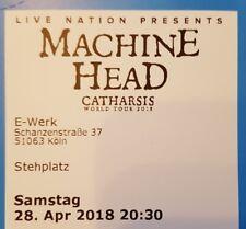 Tickets Machine Head Köln 28.04.18 Stehplätze Konzertkarten Eintrittskarte Karte