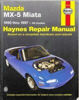 Mazda MX-5 Miata 1990-1997 Haynes Repair Manual 61016 Good 🚗 Ahlstrand Haynes