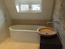 Waschschale Travertin Noce Badezimmer 52x52x10 cm groß rund Antik Waschbecken