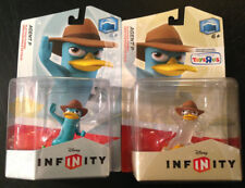 Disney Infinity Phineas & Ferb *AGENT P* Lot/2 Blue & Exclusive CRYSTAL Figures