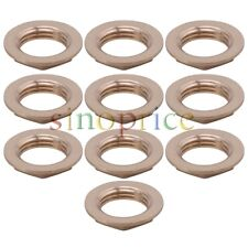 10 Pcs Copper Flange Hexagonal Nut 1/2 Inch Thicken Tube Connector Fixing Joint
