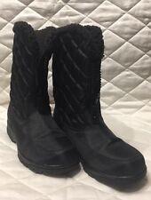 Nine West Black Faux Fur Boots, US Size 5 Black Round Toe, Women winter Boot