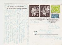 Germany 1954 Bogen Slogan Cancel Obligatory Tax Aid for Berlin Stamps Card 26025