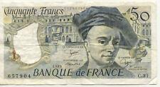 BILLET BANQUE 50 Frs QUENTIN DE LA TOUR 1983 C.31 état voir scan