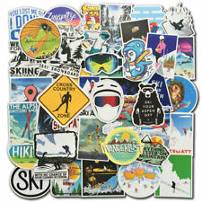 70 Pcs Ski Snowboard Sticker Bomb Pack Skiing Winter Sport Laptop Luggage Decals
