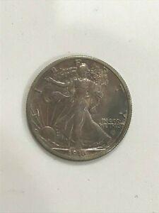1916 D WALKING LIBERTY SILVER HALF DOLLAR  50C