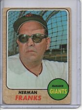 1968 TOPPS #267 HERMAN FRANKS SAN FRANCISCO GIANTS (MANAGER) FREE SHIPPING